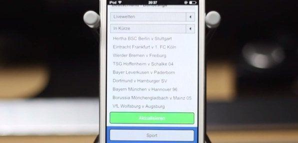 Auch mobil sind Livewetten bei Sportingbet möglich