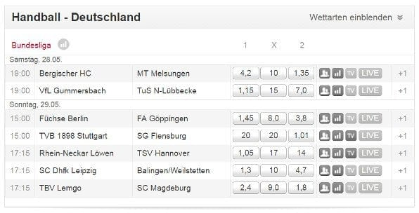 Tipico bietet attraktive Quoten auf Handball Bundesliga Wetten