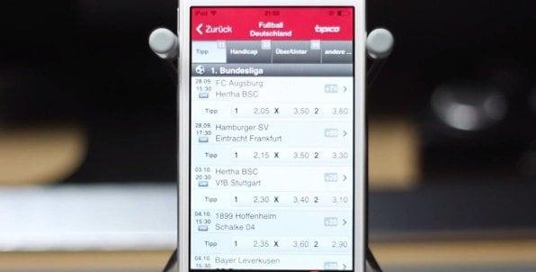 Hier die App-Ansicht eines Beispielwettscheins von Tipico.