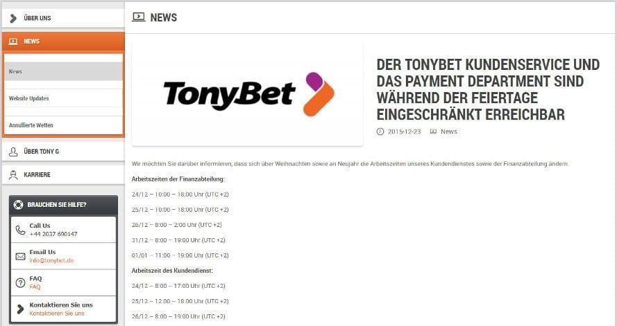 tonybet devoted