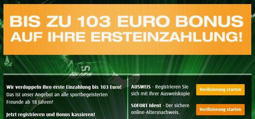Jetzt bei Tipp3 bis zu 103 Euro Bonus kassieren!