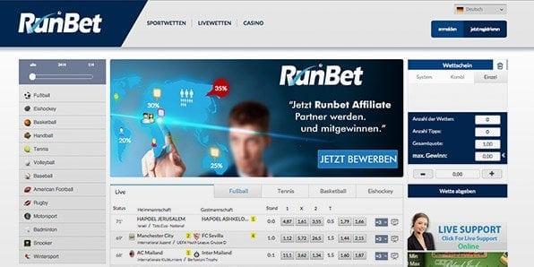 Screenshots_Runbet_startseite