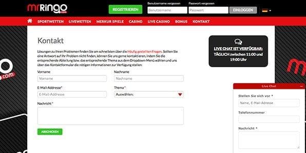 Kundenservice Formular Wettanbieter Flamantis
