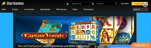 Stargames Webseite