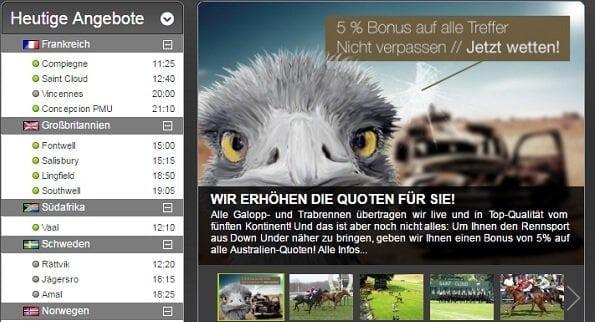 Pferdewetten.de ist Top-Bookie für Pferdewetten