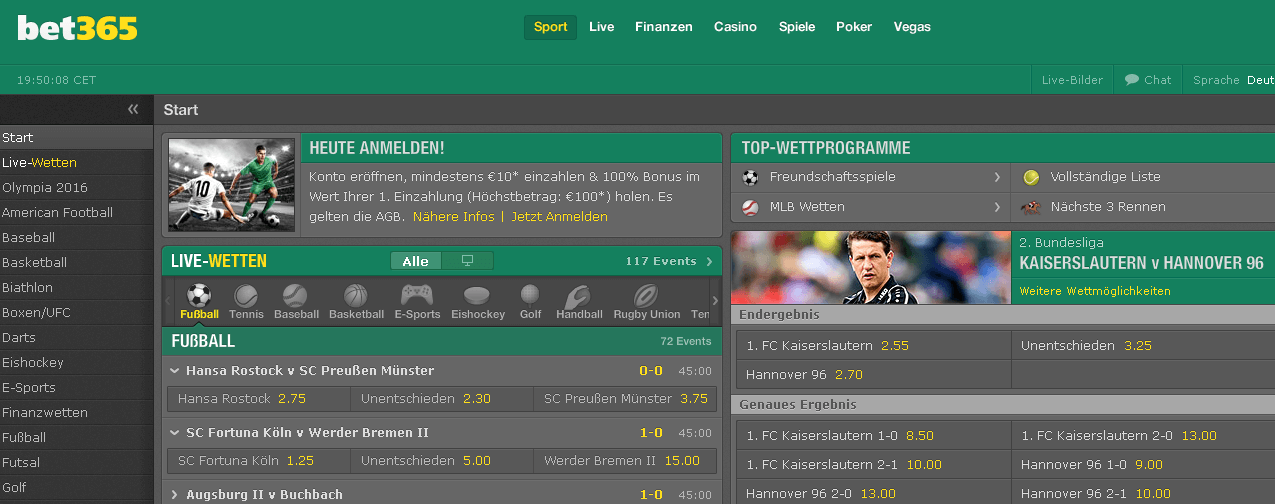 bet365 Spiele Sport