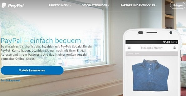Paypal als eWallet-Anbieter