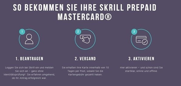 Skrill MasterCard ist Prepaid-Kreditkarte
