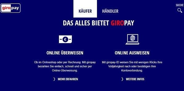Giropay ist Skrill Alternative