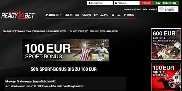ReadyToBet Bonus