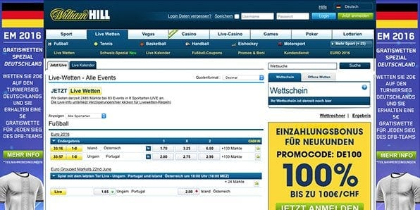 William Hill Livewetten