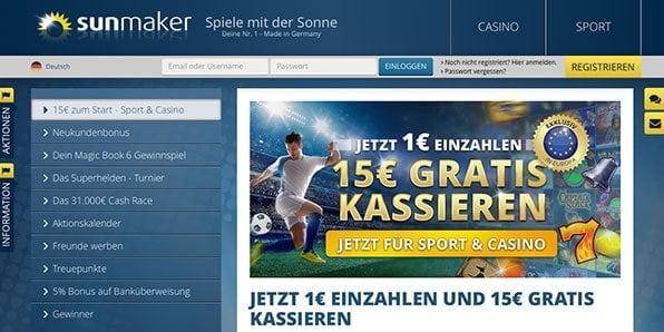 Sunmaker Sportwetten Bonus