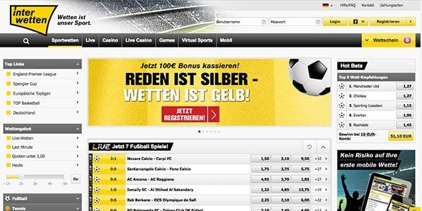 Interwetten Angebot