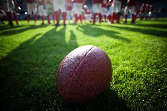 Eine American Football-Grafik NFL/Superbowl