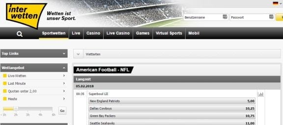 NFL Langzeitwetten