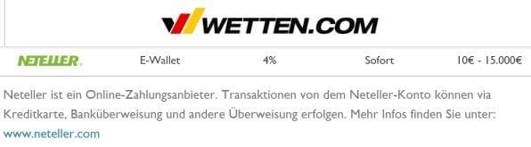 Wetten.com Neteller