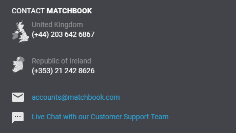 Matchbook Support