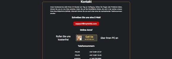 RoyRichie Kundenservice