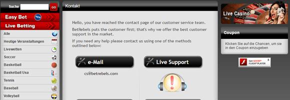 Betrebels Kundenservice
