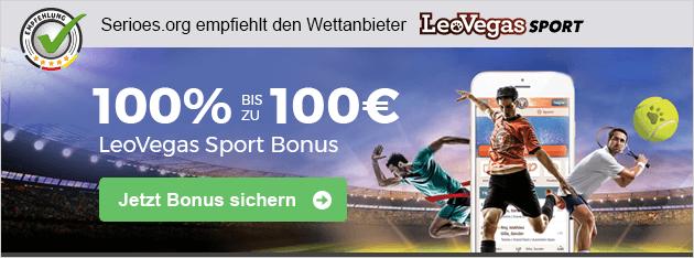 Der LeoVegas 100 Euro Sport Bonus