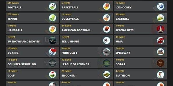 LVBet Sportwetten Angebot