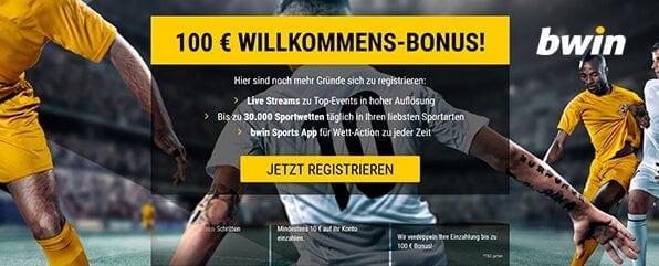 Der bwin 100 Euro Willkommensbonus