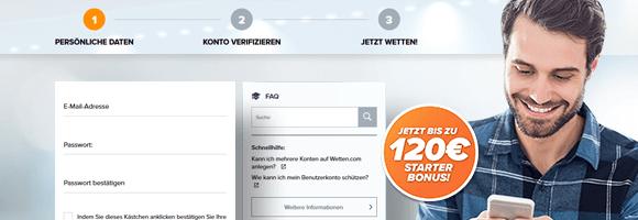 wetten.com Einzahlungsbonus