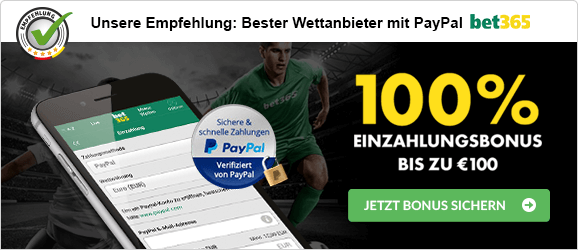 bet365 Empfehlung PayPal