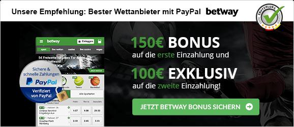 betway Empfehlung PayPal
