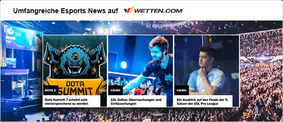eSports News auf wetten.com