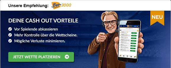 Fußballwetten mit Cash-Out bet3000