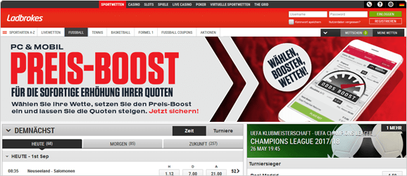 Ladbrokes Quoten