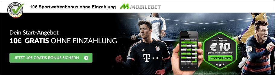 Mobilebet Sportwettenbonus ohne Einzahlung Empfehlung
