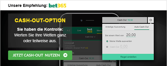 Sportwetten mit Cash-out Strategie bet365