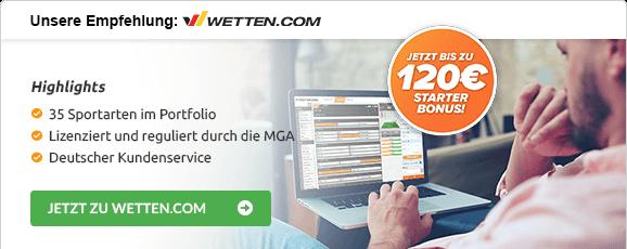 Wettanbieter mit Cash-out-Funktion wetten.com