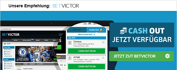 Wetten mit Cash-out betvictor