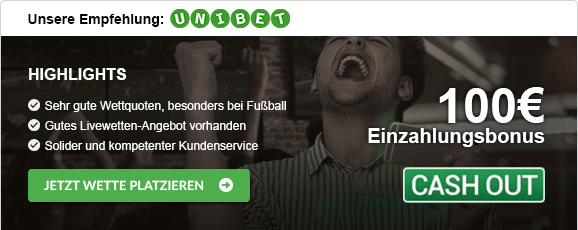 Wetten mit Cash-out Unibet