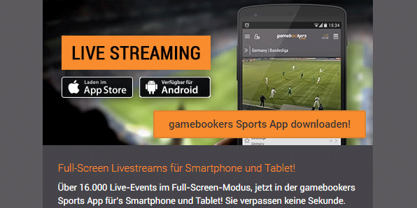 Gamebookers Sports App