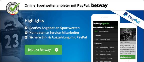 Online Sportwettenanbieter mit PayPal betway