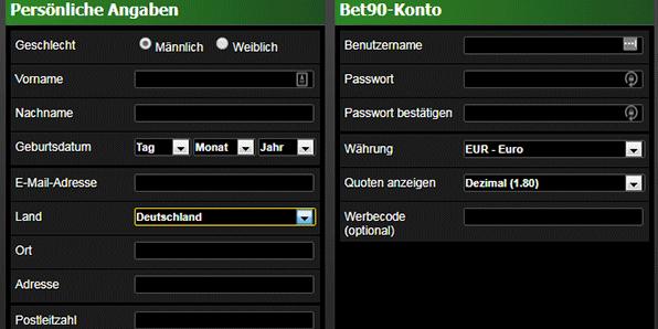 Bet90 Registrierung