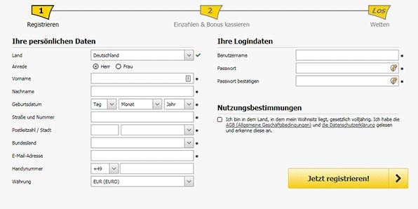 Interwetten Registrierung