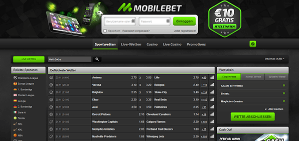Mobilebet Startseite
