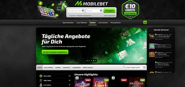 Mobilebet Zusatzangebot Casino