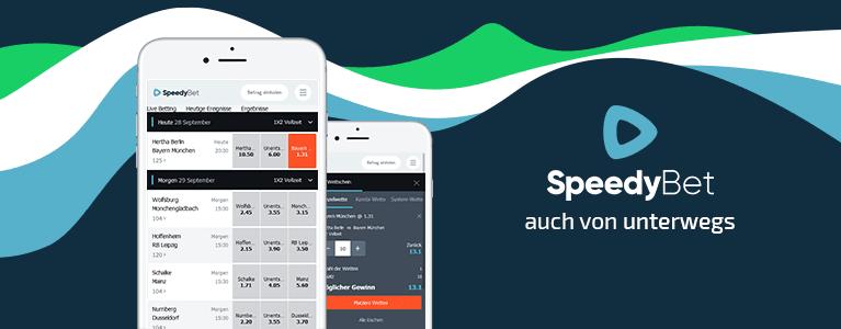 Speedy Bet Mobile - Alles Verfügbar