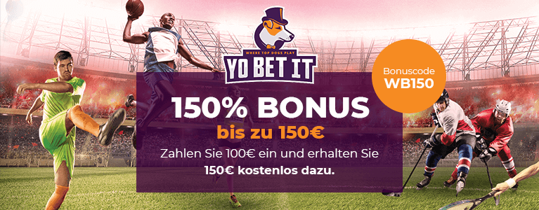 Yobetit Bonus - 150% bis zu 150€ Einzahlungsbonus width=