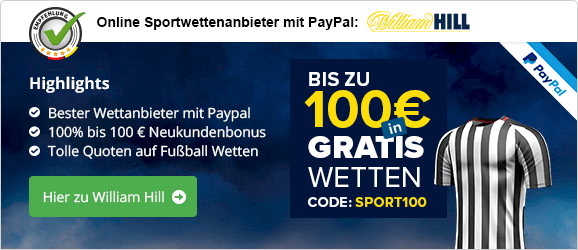 William Hill Paypal Empfehlung