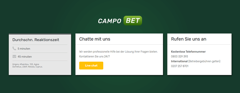 Campobet Sport Support