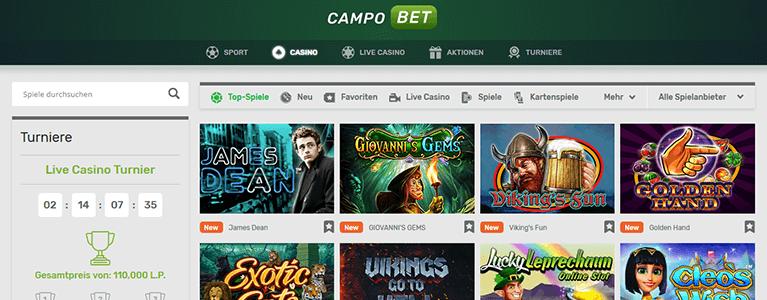Campobet Sport Extras