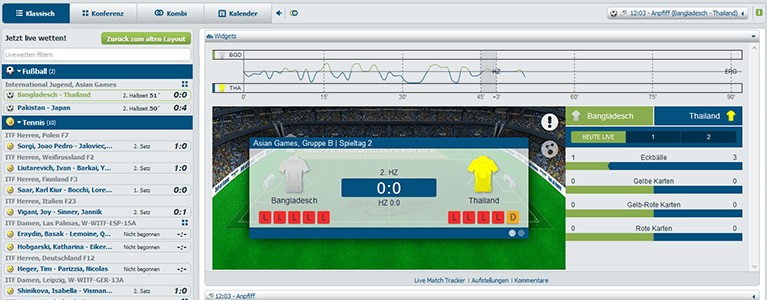 Bet at home Sport Livewetten