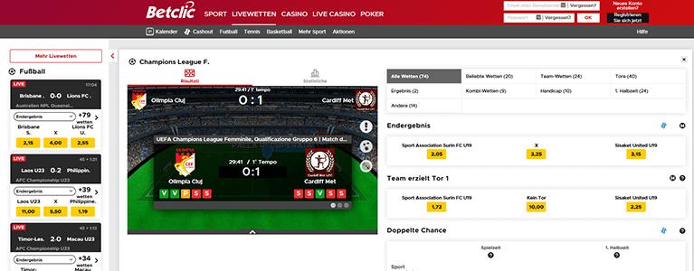 Betclic Sport Livewetten